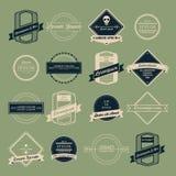 Sistema del vector del logotipo del vintage Imagenes de archivo