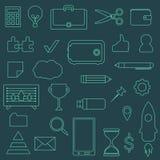 Sistema del vector del negocio de iconos del contorno Foto de archivo