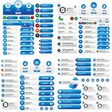 Sistema del vector del negocio de los botones del sitio web Fotos de archivo libres de regalías