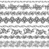 Sistema del vector del ornamento floral decorativo Foto de archivo libre de regalías