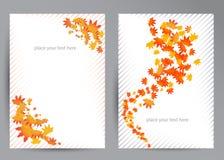 Sistema del vector del otoño colorido stock de ilustración