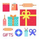 Sistema del vector del regalo Fotos de archivo