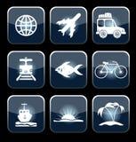 Sistema del vector del viaje Imagen de archivo libre de regalías