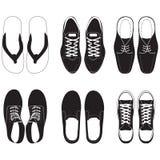 sistema del vector del zapato Foto de archivo libre de regalías