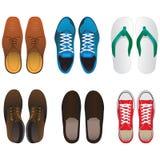 sistema del vector del zapato Fotografía de archivo