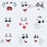 Sistema del vector lindo de la emoción Imagenes de archivo