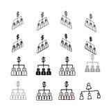Sistema del vector moderno de la colección del vector La gente traza el tipo multi libre illustration