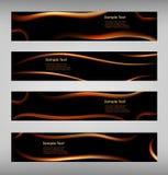 Sistema de la bandera negra abstracta de la tela Fotos de archivo libres de regalías