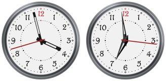 Sistema del vector del reloj redondo moderno con las diversas manos de reloj Cara clásica del dial de reloj Reloj arable de los n ilustración del vector