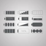 Sistema del vector simple plano de los iconos del web Imágenes de archivo libres de regalías
