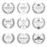 Sistema del vector superior de las etiquetas y de las insignias de la calidad Imágenes de archivo libres de regalías