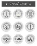 Sistema del viaje de los iconos del vector Foto de archivo libre de regalías