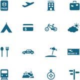 Sistema del viaje, del ocio y del icono del turismo. Foto de archivo