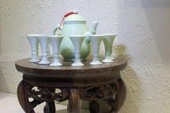 Sistema del vino de arroz del chino tradicional Fotos de archivo libres de regalías