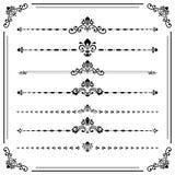 Sistema del vintage de elementos horizontales Fotografía de archivo libre de regalías