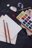 Sistema del Watercolour Imagen de archivo