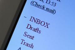Sistema del webmail Fotos de archivo