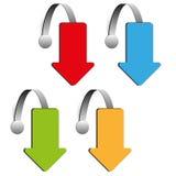 Sistema del wobbler de la flecha de cuatro colores Fotografía de archivo libre de regalías