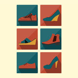 Sistema del zapato Foto de archivo