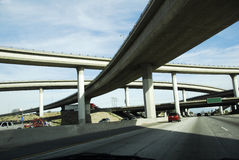 Sistema dell'autostrada senza pedaggio dell'America del passaggio Immagine Stock