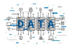 Sistema dell'infrastruttura della base di dati di rete Fotografia Stock Libera da Diritti