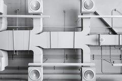 Sistema dell'installazione di ventilazione del condizionatore d'aria Fotografia Stock Libera da Diritti