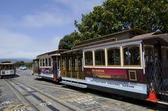 Sistema della cabina di funivia di San Francisco Fotografia Stock