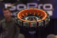 sistema della macchina fotografica di realtà virtuale 360-Degree Immagine Stock Libera da Diritti