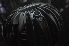 Sistema della macchina fotografica di VR su esposizione immagini stock libere da diritti