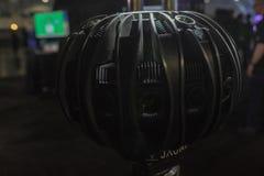 Sistema della macchina fotografica di VR su esposizione fotografie stock libere da diritti