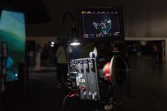 Sistema della macchina fotografica di VR su esposizione fotografia stock
