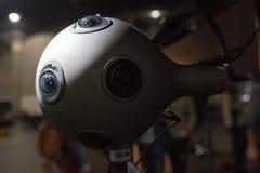 Sistema della macchina fotografica di VR su esposizione fotografia stock libera da diritti