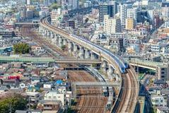 Sistema della metropolitana e della ferrovia di Tokyo, Giappone Fotografie Stock Libere da Diritti