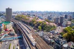 Sistema della metropolitana e della ferrovia di Tokyo, Giappone Immagini Stock Libere da Diritti