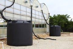 Sistema della raccolta dell'acqua piovana Fotografie Stock