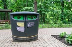 Sistema della raccolta separata dei rifiuti urbani Fotografia Stock Libera da Diritti