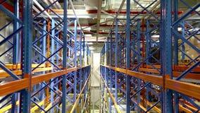 Sistema della scaffalatura del magazzino video d archivio