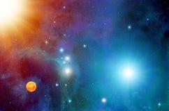 Sistema della stella dello spazio Immagine Stock