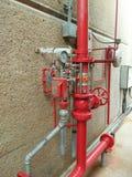 Sistema dello spruzzatore e di allarme antincendio dell'acqua fotografia stock libera da diritti