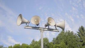 Sistema di allarme dell'altoparlante video d archivio
