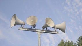 Sistema di allarme dell'altoparlante stock footage