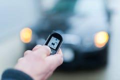 Sistema di allarme di sicurezza dell'automobile aperto fotografie stock libere da diritti
