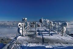 Sistema di antenne nell'inverno Fotografie Stock Libere da Diritti