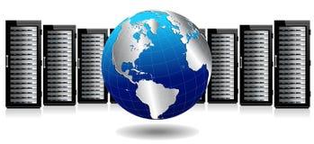 Sistema di archiviazione di dati - spirito dei server della rete internet illustrazione di stock