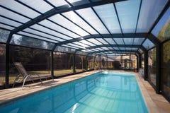 Sistema di chiusura della piscina Fotografia Stock Libera da Diritti