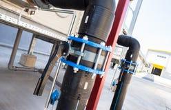Sistema di conduttura di trattamento dei rifiuti con la turbina Immagini Stock