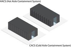 Sistema di contenimento isometrico del server dello scaffale Fotografie Stock