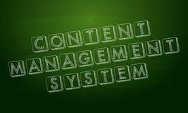 Sistema di content management sopra la lavagna verde Immagini Stock Libere da Diritti