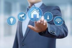 Sistema di controllo astuto di automazione della casa Concetto della rete internet di tecnologia dell'innovazione fotografia stock libera da diritti