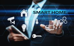 Sistema di controllo astuto di automazione della casa Concetto della rete internet di tecnologia dell'innovazione fotografia stock